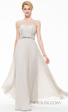 You will look dazzling in this enchanting beaded prom dress. #JJsHouse #Party #Prom