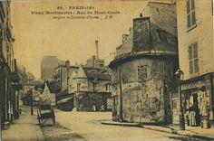 Montmartre ancienne photo..Rue Mont Cenis Bergerie-1906-..reépinglé par Maurie Daboux ❥•*`*•❥