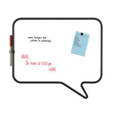 Talk Dry Erase Board White, now featured on Fab.