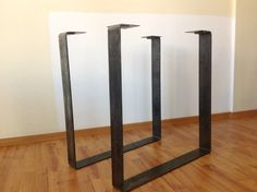 "28 ""x 20"" Table Legs, Flat Steel Table Leg, Height 26"" To 30"" Set(2)"