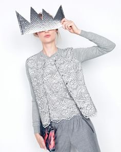 J.Crew women's lace panel cardigan, lace panel top, Turner pant and envelope clutch in floral splash.