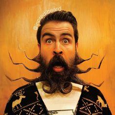 Isaiah Webb y las graciosas figuras que forma con su barba
