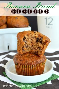 Banana Bread Muffins from http://www.insidebrucrewlife.com - these are the best banana muffins you will ever eat  #muffins #breakfast #banana