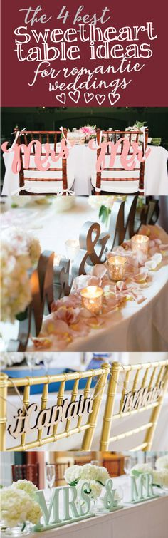 4 Sweetheart Table Decor Ideas for Romantic Weddings Before Wedding, Our Wedding Day, Wedding Table, Perfect Wedding, Fall Wedding, Diy Wedding, Rustic Wedding, Wedding Reception, Dream Wedding