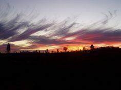 Sunset over Kata Tjuta (at left).