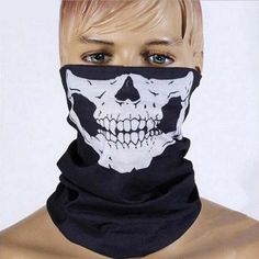 Hot Halloween Windproof Tactical Ghost Balaclava Neck Ski Caps Cycling Motorcycle Mask Beanies Face Mask Skull Scarf