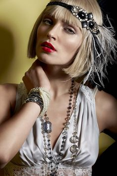 Take your inspiration from The Great Gatsby and dress up as a twenties flapper this Halloween