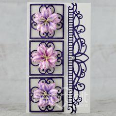 Climbing Clematis, Heartfelt Creations Cards, Beautiful Handmade Cards, Flower Center, Flower Shape, Greeting Cards Handmade, Pattern Paper, Creative Inspiration, Cardmaking