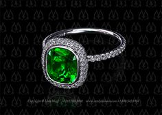 Let's celebrate emerald being Pantone's color of the year with Leon Mege's tsavorite halo ring.