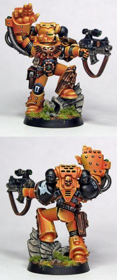 CoolMiniOrNot - Space Marine Sergeant with Power Fist by mattsterbenz