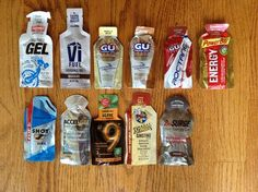 Comparison of Energy Gels - Running tips for everyone from beginners to racing marathons and ultramarathons