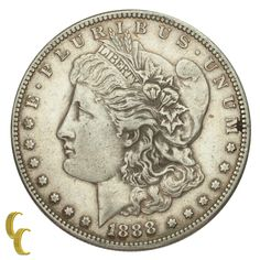 1888-S Silver Morgan Dollar $1 (Very Fine, VF Condition)