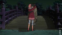 sasusaku sakura haruno sasuke uchiha uchiwa naruto the last back konoha hug journey Kalolu artwork