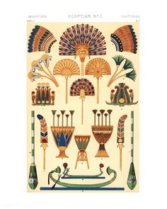 Owen Jones famous Century Grammar of Ornament. One of the finest graphic design books ever produced. From our own original antique chromolithographic version of the famous book we have created a high resolution digitally enhanced copy for you. Ancient Egyptian Costume, Ancient Egypt Art, Egyptian Symbols, Egyptian Art, Ancient Artifacts, Ancient Aliens, Ancient Egypt Fashion, Ancient Greece, Egyptian Fashion