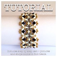 Instant download.    The PDF file includes:  Material and tools you will need and where to buy them online and the beading tutorial detailed step