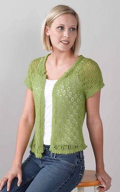 The light and airy Vintage Vest is perfect for wearing in spring, summer, and fall. The lace pattern is easy to follow and quick to knit.