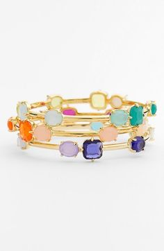 I love the colors, but not the bangles. Kate Spade!