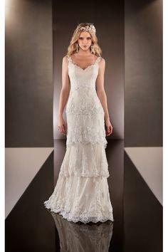 grande immagine 3 Vestido de noiva Sem Mangas Com Grânulos Clássico e atemporal Gola em V
