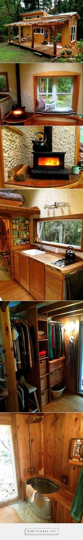 Yoga teacher's hand-built tiny house is a warm woodland haven : TreeHugger - created via https://pinthemall.net