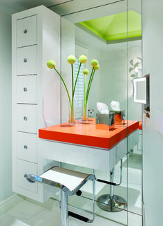 """Stylish Vanity with Caesarstone """"Tequila"""" counter top"""
