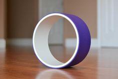 Yoga Wheel/Fitness Wheel White&Purple by AReedYogaWheels on Etsy