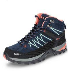 CMP Rigel Clima Protect Wanderschuh in dunkelblau/schwarz/rosa. #wanderschuhe #outdoorschuhe #gebrüdergötz Hiking Boots, Shoes, Fashion, Pink, Hiking Shoes, Runing Shoes, Hiking, Dark Blue, Clothing