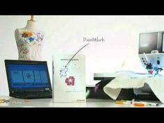A sewing machine that can paint!?! NEW BERNINA Software - paint, cut and crystalize -  DesignWorks Software Suite Video