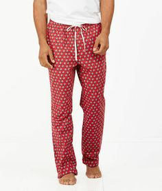 Men's Lounge Pants: Woody & Tree Flannel Lounge Pants for Men - Vineyard Vines