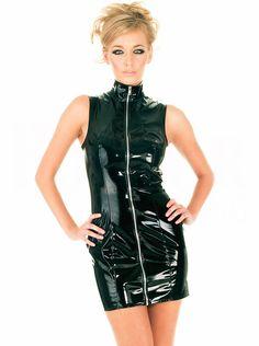 Wonder Pretty Femme Latex Catsuit Catwoman Faux Cuir Wetlook Combinaison Le maillot de corps Clubwear Costumes