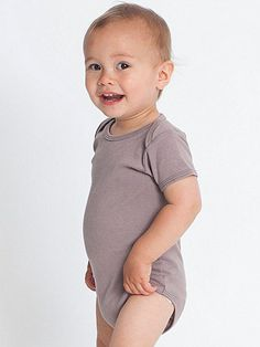 Organic Infant Baby Rib Short Sleeve One-Piece you can get lots of onesie colors at American apparel. Neckline Designs, Happy Campers, Organic Baby, American Apparel, Baby Kids, Kids Outfits, Onesies, One Piece, Sleeves