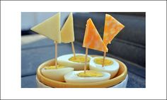 Healthy Kids Snacks - Egg Boats