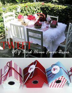 DIY Bird House Favor Boxes,