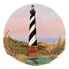 """Hatteras"" by P Buckley Moss. Issued 2001. Image Size: 5-1/8 x 5-3/4 ins. Rare @ Issue Price: $65."