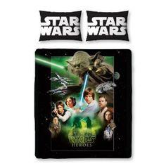 Character World 200 x 200 cm Star Wars Saga Reversible Double Panel Duvet Set: Amazon.co.uk: Kitchen & Home