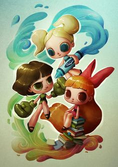 I love the Powerpuff Girls - used to watch them a lot when I was a kid.So it's probably not surprising I decided to work on a little tribute to the show and recreate the girls in my own way (that is sort of pop-surrealistic and a bit creepy way, I guess).Check out my blog for the full post, and feel free to follow my other accounts for daily art updates!InstagramFacebook