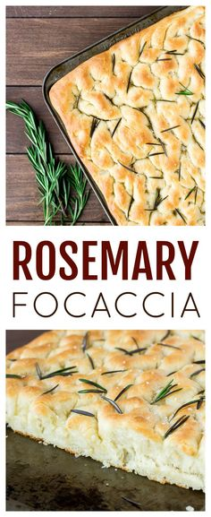 Focaccia is a classic Italian bread recipe. This Homemade Rosemary Focaccia version has a a crisp crust, chewy center, and hints of salt and rosemary n every bite! It's a great appetizer, especially when entertaining! Italian Bread Recipes, Healthy Bread Recipes, Yeast Bread Recipes, Cooking Recipes, Scd Recipes, Paleo Bread, Best Appetizer Recipes, Great Appetizers, Rosemary Focaccia