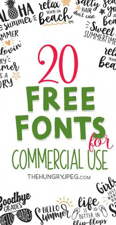 From Script to Slabs, All These Free Fonts Come With Commercial License TheHungryJPEG Font Inspiration 2019