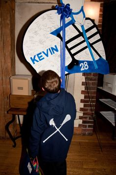 Lacrosse Theme Bar Mitzvah Sign In board  The Event Of A Lifetime, Inc.