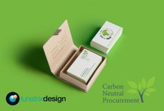 Brand identity design for Carbon Neutral Procurement by www.lunatrix.co.uk #carbonneutral #greenlogo #carbonfootprint