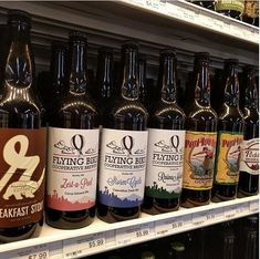 Its true and awesome!    flyingbikecoopbreweryWere on the shelf at @central_coop ! You can now buy our bottles for the first time ever outside the brewery. How exciting!