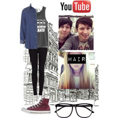 """""""The Fine Bros. Video with Dan and Phil"""" by onederful-edsheeran on Polyvore"""