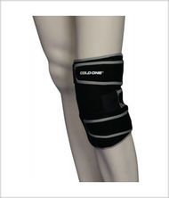 Cold One Knee Ice Wrap ideal for treatment of knee sprains and strains.