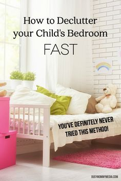 Do you need a tip to help you declutter your child's bedroom fast? We have the fastest method for you! Messy Bedroom, Clean Bedroom, Girls Bedroom, Organised Mum, Declutter Bedroom, Kids Room Organization, Clutter Organization, Daughters Room, Fancy