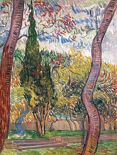 Vincent van Gogh, Park of the Asylum at Saint-Remy, 1889