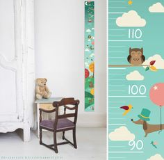 Free printable growth chart for kids up to 140 cm designed by Oktoberdots for Kidsroomstylist