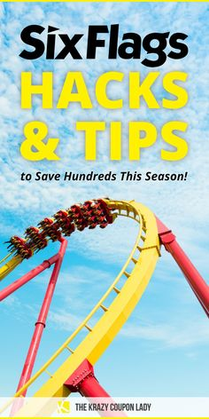 While the perfect Six Flags outfit is important you're gonna want to read these Six Flags hacks and money-saving tips so you can spend less while at the park. If you want to take the whole family to Six Flags, you need to avoid extra costs or find some Six Flags discounts. The Krazy Coupon Lady has the best legit hacks to save at Six Flags that'll save your family hundreds of dollars over the course of a season. Get ready to become a professional at outsmarting Six Flags and saving money. Six Flags Season Pass, Money Tips, Money Saving Tips, Admission Ticket, Back To School Supplies, Marriott Hotels, Free Things To Do, Diy For Kids, Good To Know