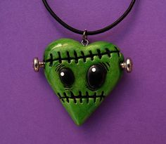 Frankenstein's Heart Necklace by MyOddities on Etsy, $17.00