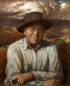 N. C. Wyeth, self-portrait, 1940 Father of Andrew Wyeth, artist of the Helga series. And grandfather of Jamie Wyeth. Three generations of American artists.