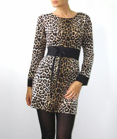 kurzes Jerseykleid Leopard