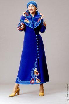 Верхняя одежда ручной работы. Ярмарка Мастеров - ручная работа пальто трикотажное.... Handmade.